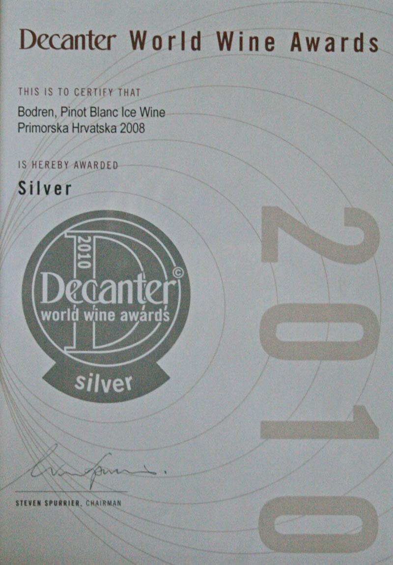 2010. Decanter World Wine Awards, London