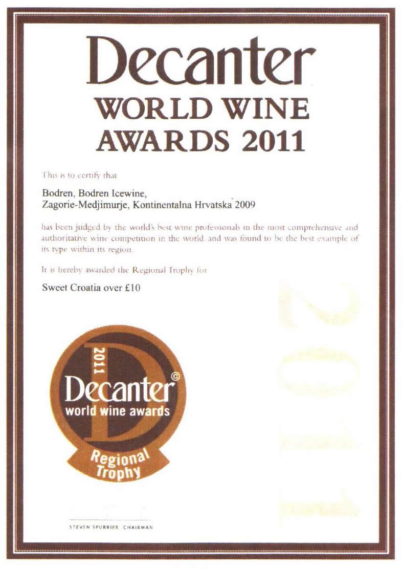 2011. Decanter World Wine Awards, London