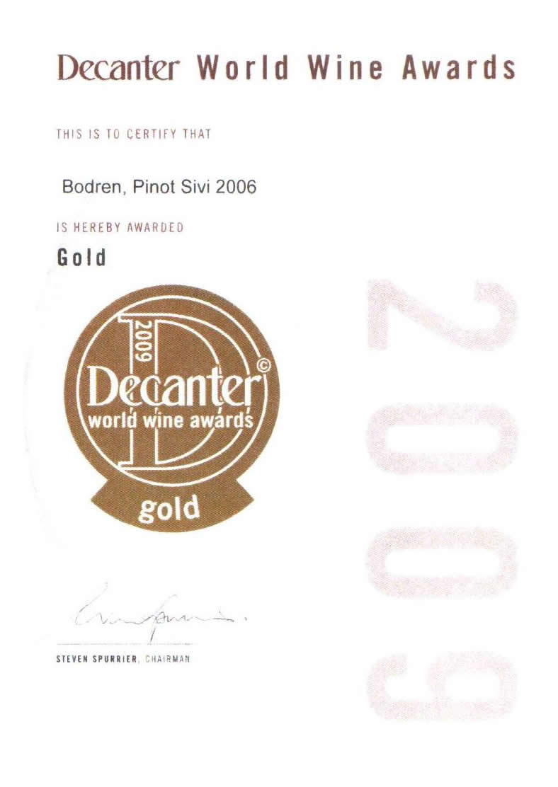 2008. Decanter World Wine Awards, London
