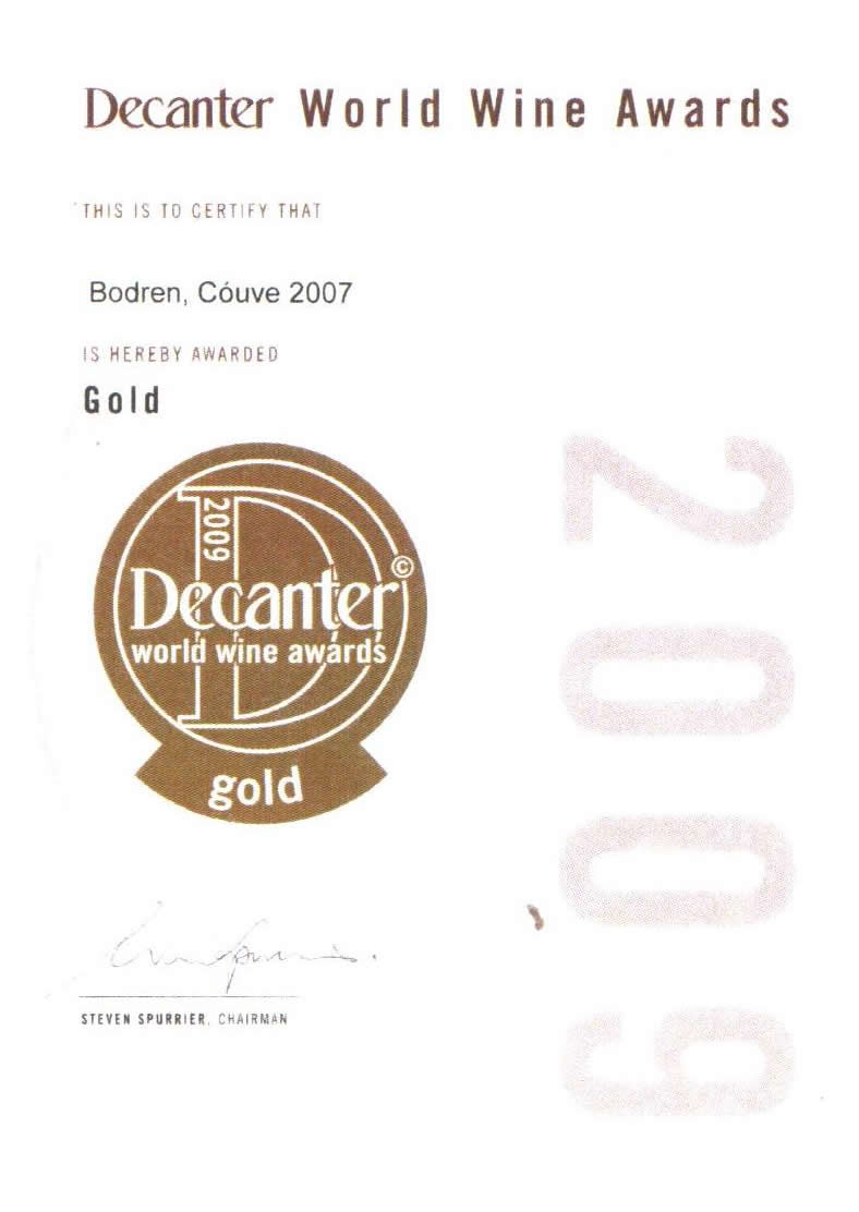 2009. Decanter World Wine Awards, London